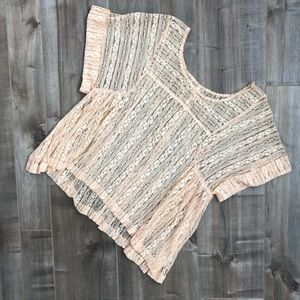 Free People see through lace shirt